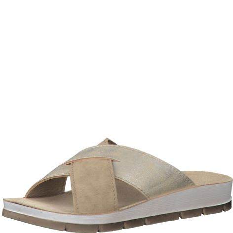 Marco Tozzi 2-27410-24 356 Taupe Metallic Combi Womens Sandals